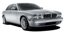 Chauffeur driven cars in Stoke on Trent area, including the long wheel based version of the new Jaguar XJ